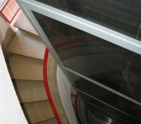 ascensor exterior  hueco de la escalera