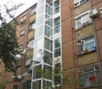 Ascensor exterior  aluminio y crista