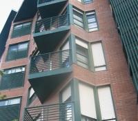 Barandillas acero en fachada