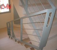 Barandillas acero en escalera
