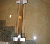 barandillas aluminio en escalera