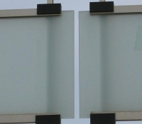 Detalle barandilla acristalada
