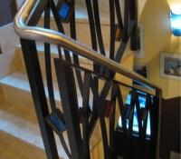 barandillas acero forjado para escalera