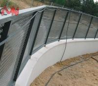 Cercados vallas de acero galvanizado en curva