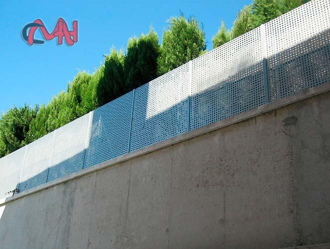 Cercados vallas de acero galvanizado en altura