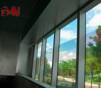 Muro cortina visto desde dentro