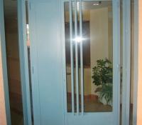 puerta acero lacada