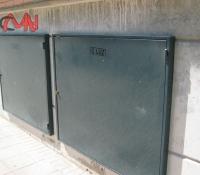 Puertas contadores acero