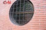 Reja seguridad ventana redonda