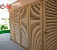 Rejillas ventilación en puerta