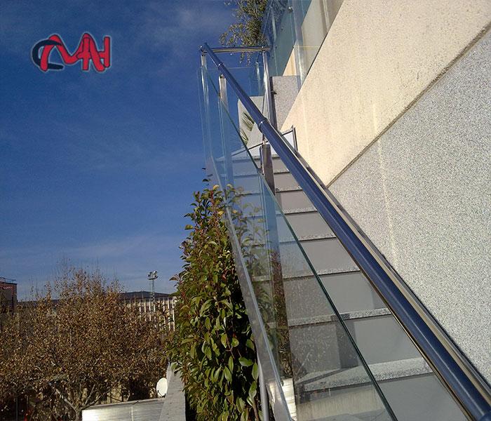 Escalera exterior recta