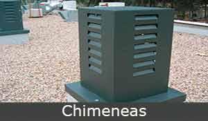 chimeneas, construcciones metálicas