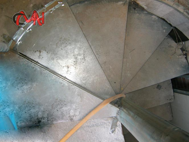 escaleras caracol, acero galvanizado
