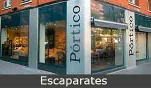 escaparates, construcciones metálicas