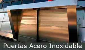 construcciones metálicas, puertas-acero-inoxidable