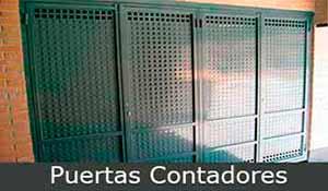 puerta metálica,puertas-contadores