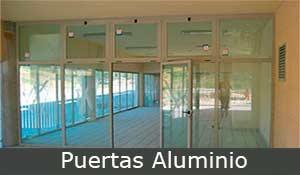 puertas aluminio, puerta metálica