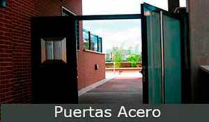puertas acero, puertas metálicas