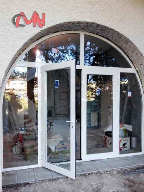 puerta arco medio punto