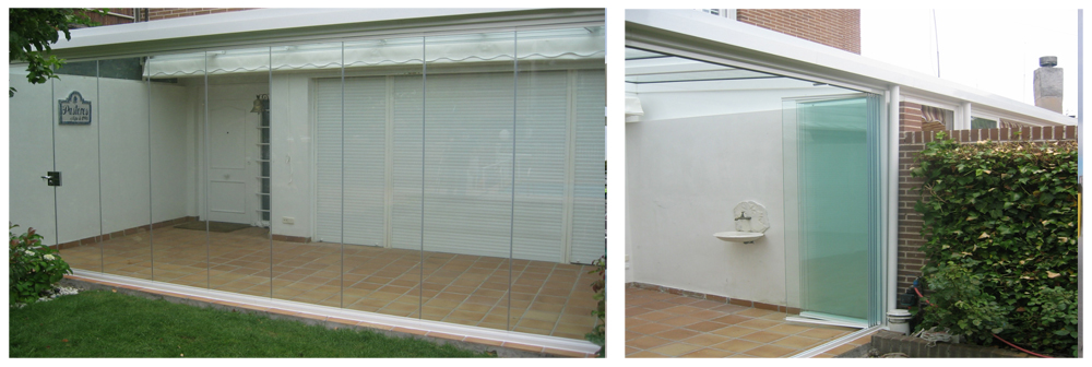 Ventanas cortina-cristal