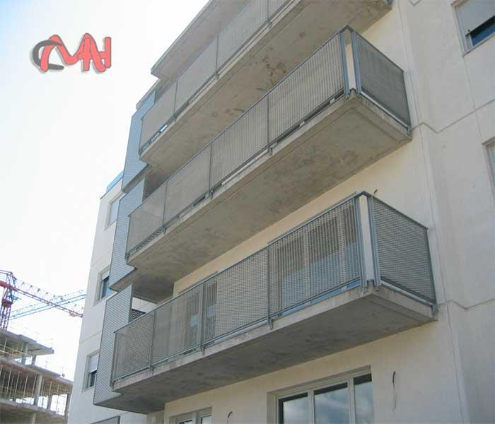 Balcón acero galvanizado